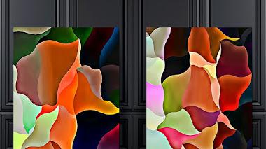 Díptico abstracto: Wavyforme 56