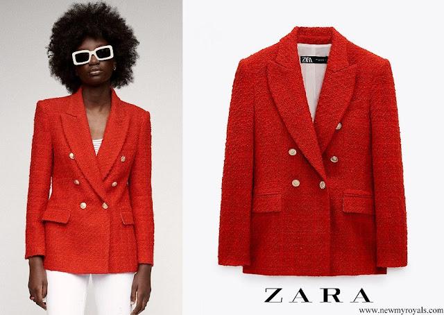 Kate Middleton wore Zara textured double breasted blazer