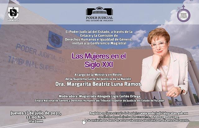 """Conferencia magistral """"La mujer en el siglo XXI· en el Poder Judicial"""