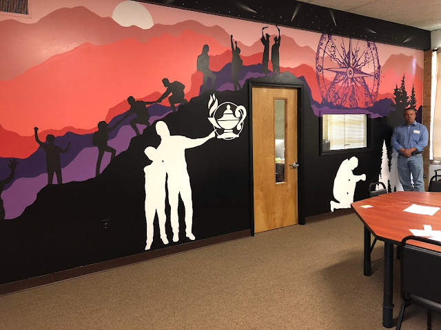 Artistic murals capture essence of exciting  Hope school that helps student succeed