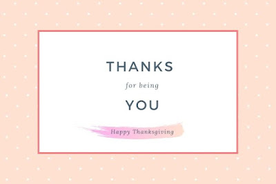 Thanks for being you Happy thanksgiving written on design background.