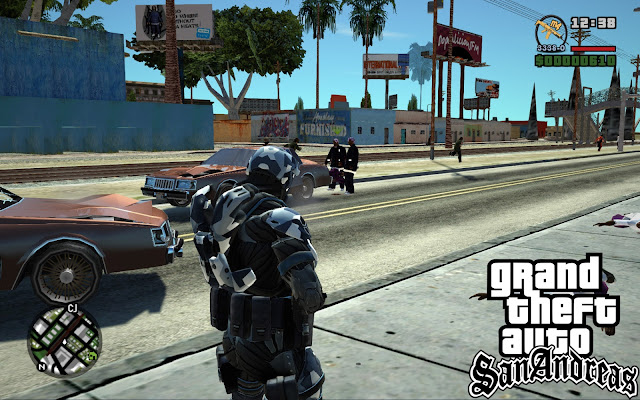 GTA San Andreas Crysis Skin Mod Pack With Guns