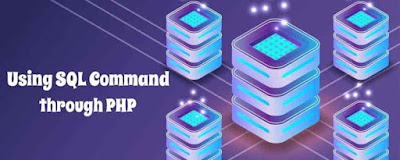 Using SQL Command through PHP