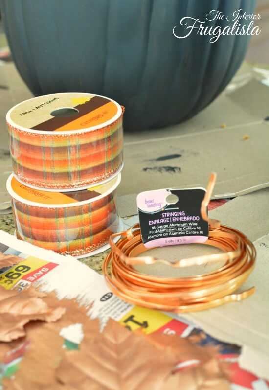 Pumpkin Topiary Copper Metal Wire