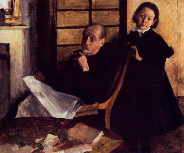 Эдгар Дега - Портрет Анри де Га и его племянницы Люси де Га (1876)