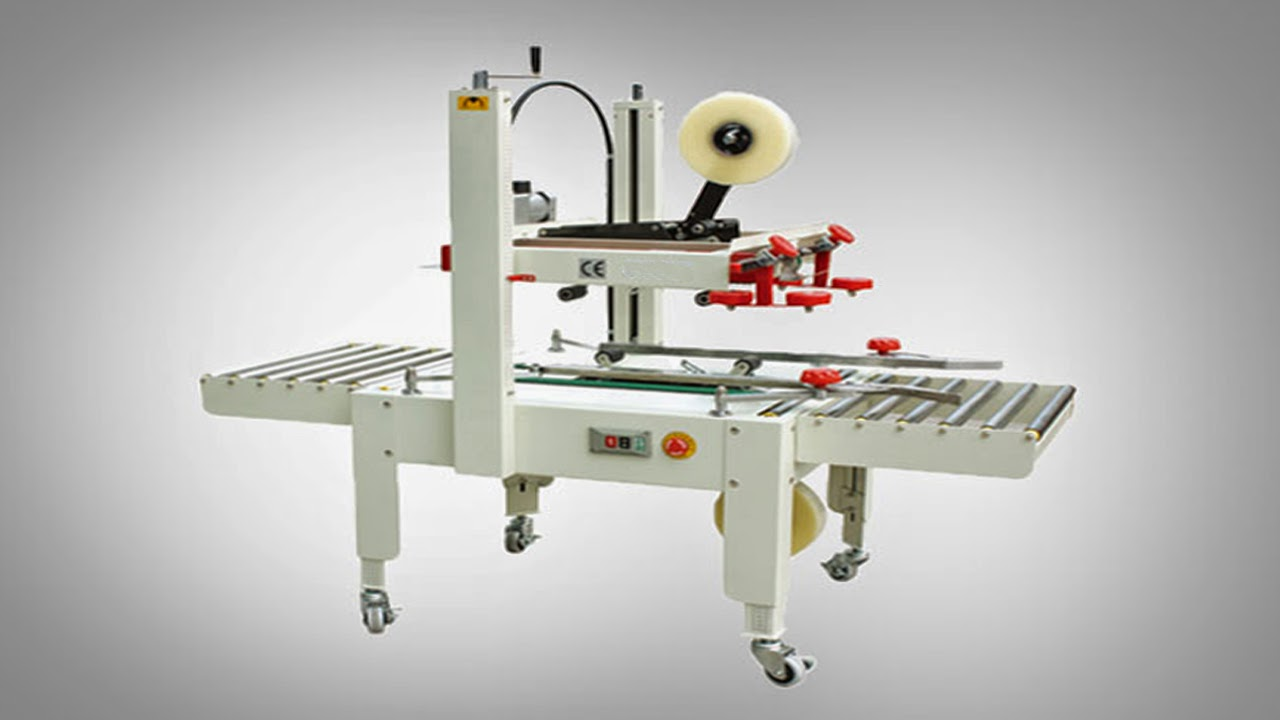 semi automatic carton sealing machine box sealer equipment Kartonverschlussmaschine Halbautomatische
