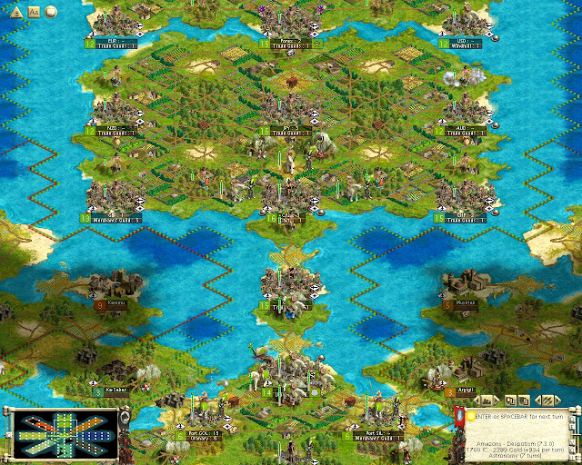 Civilization 3 - Warhammer Fantasy Mod Hub Map Screenahot