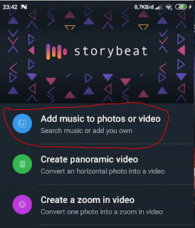 membuat music di foto atau video dengan storybeat
