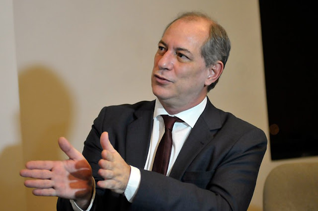 Ciro afirma que quer aliança com o DEM, PSB, PV, Rede e PSD na disputa pela presidência em 2022
