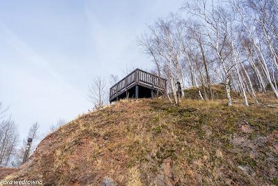 Platforma widokowa pod Dłużyną, zbudowana na wysokości 640 m n.p.m.