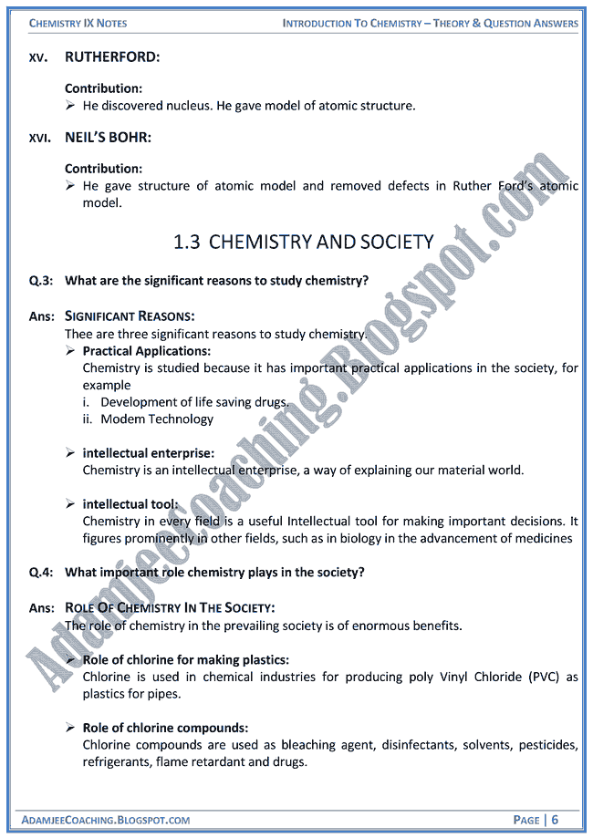 Chemistry Class 9th Chapter 4 Structure Of The Atom Module