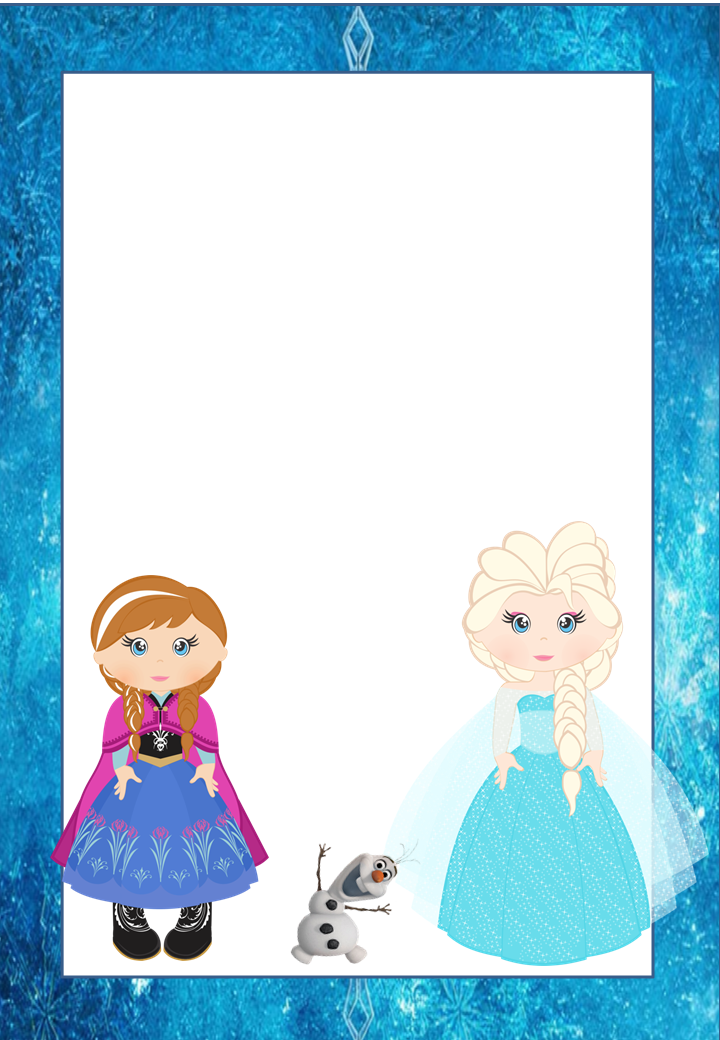 Frozen Free Printable Frames, Invitations or Cards. - Oh ...