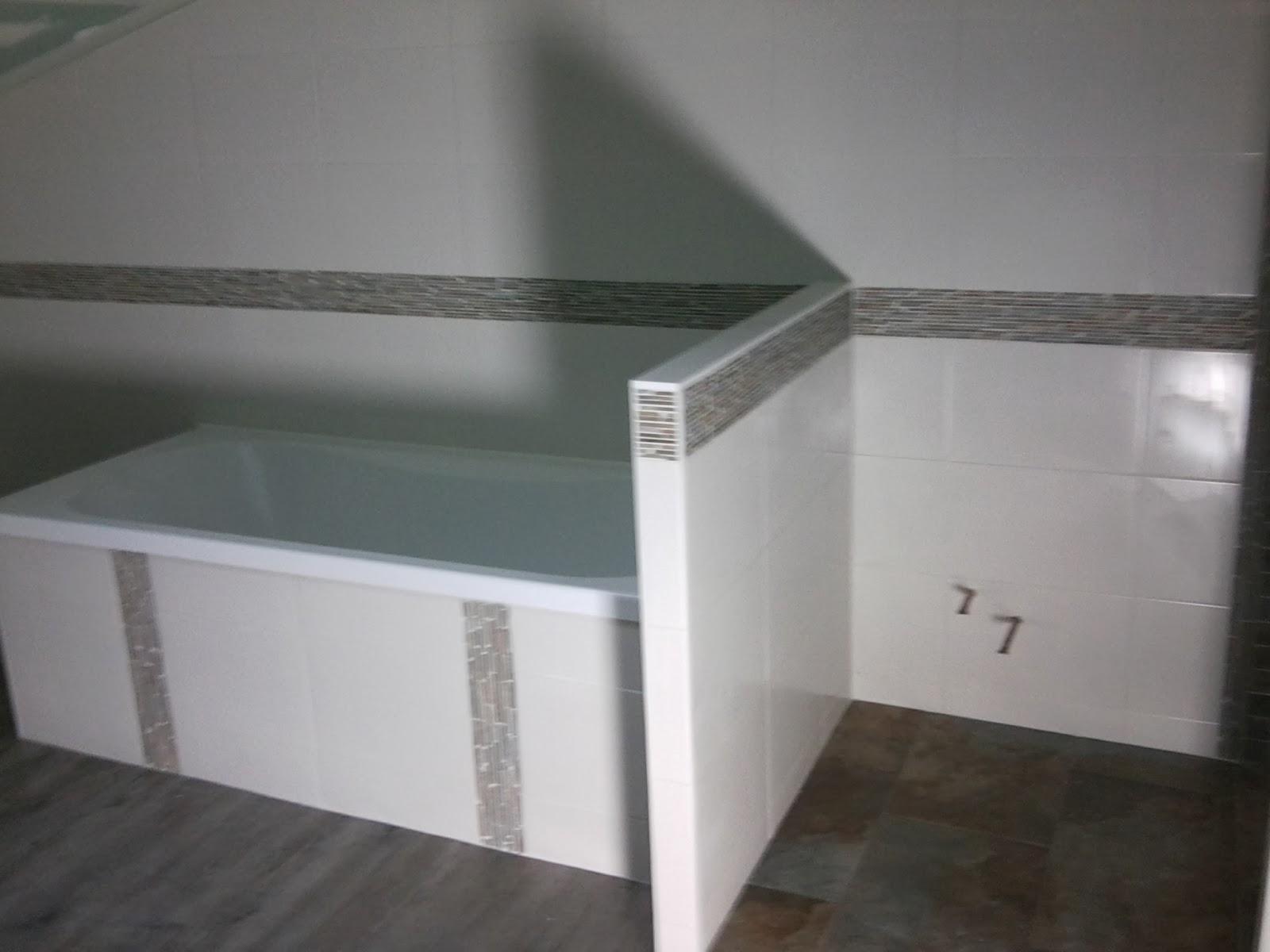 Chantier rénovation Philpro carreleur Remise en état d'une salle de bain à Niort