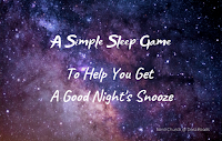 'A Simple Sleep Game To Help You Get A Good Night's Snooze' against a starry night sky background