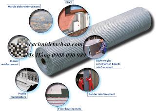 luoi thuy tinh fiber glass mesh Lưới sợi thủy tinh chống thấm, tô tường tại hcm