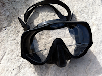 diving mask with stick on lenses