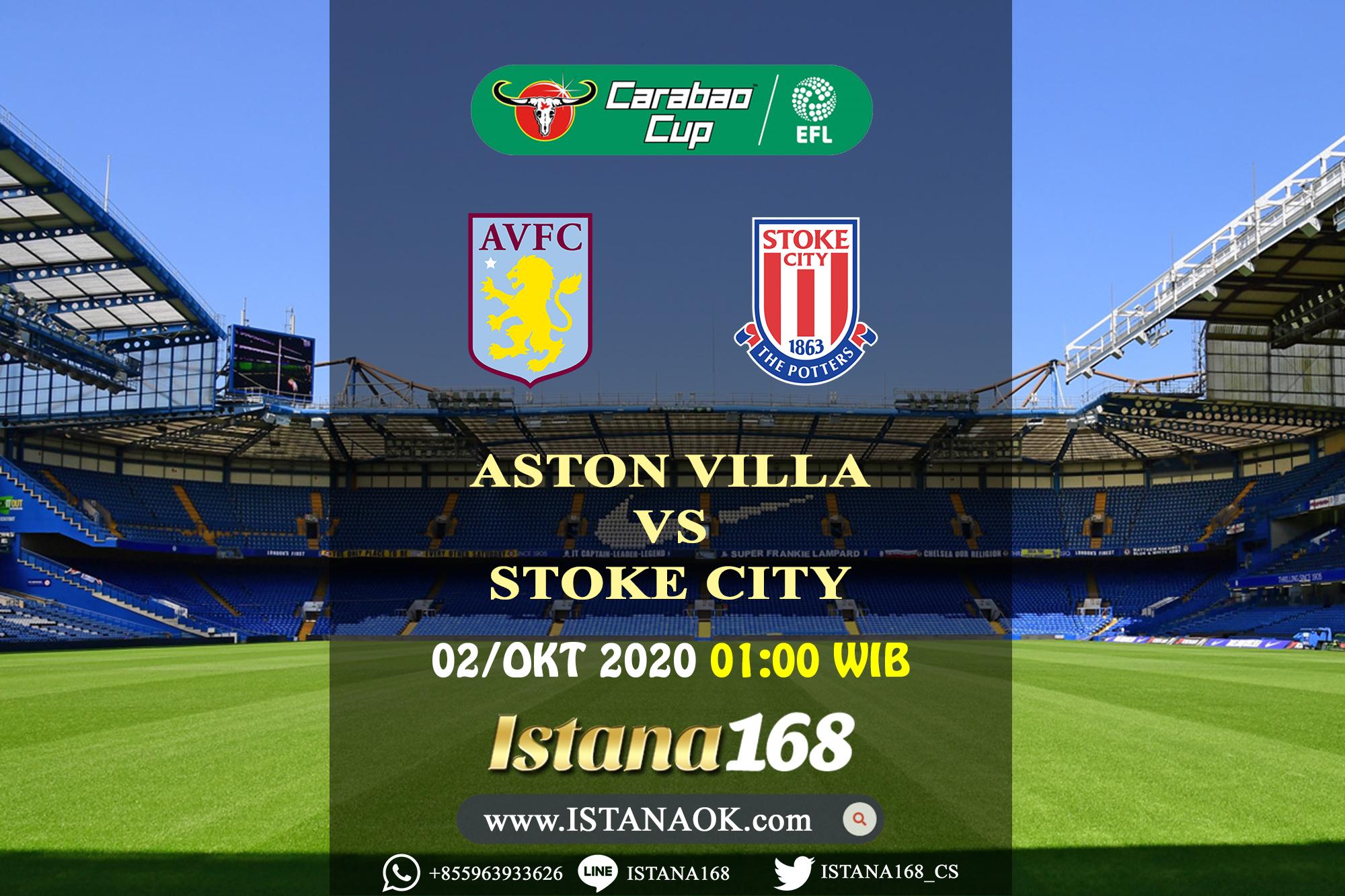 Prediksi Bola Akurat Istana168 Aston Villa Vs Stoke City 02 Oktober 2020