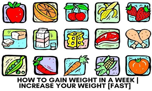 how can you gain weight in a week