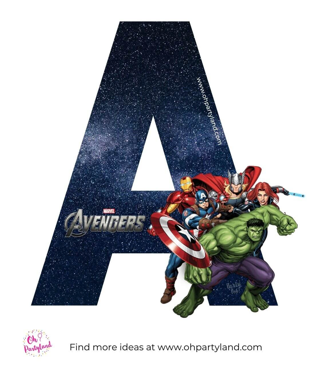 avengers alphabet letter a