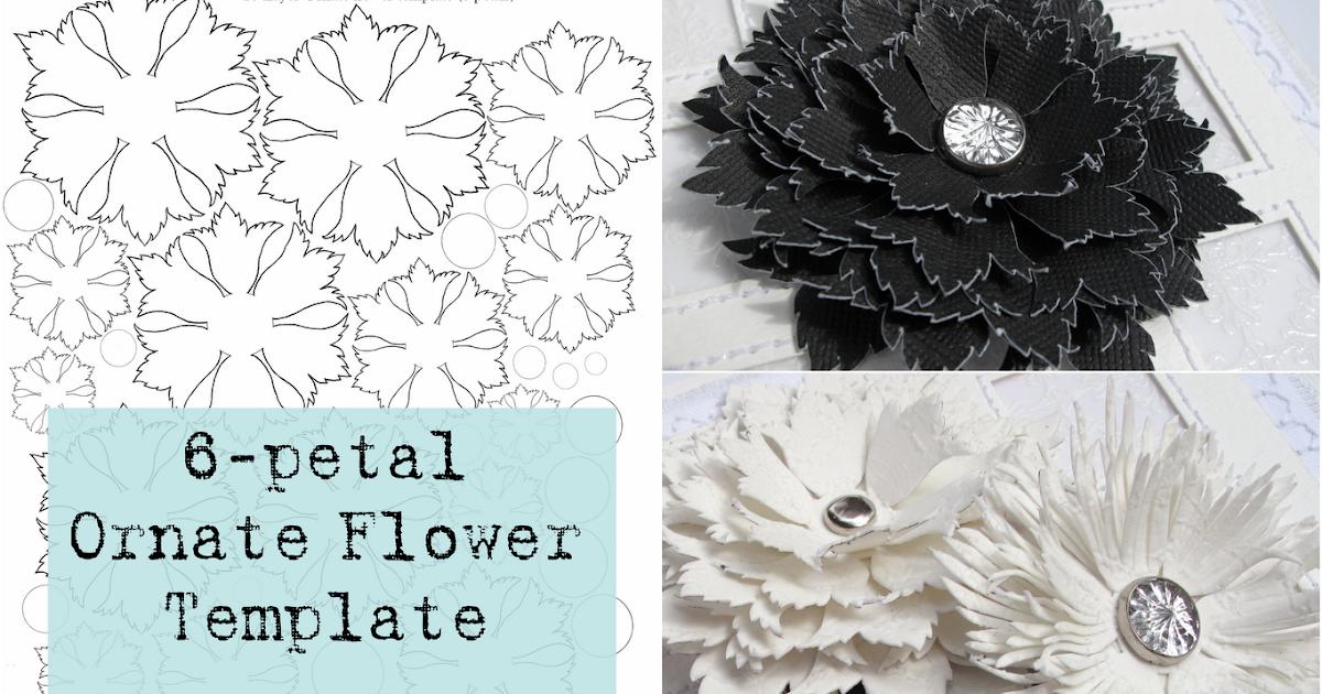 mel stampz 6 petal ornate flower template