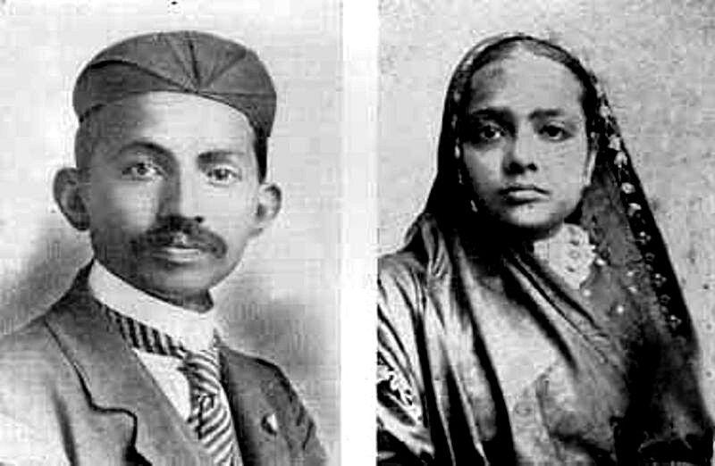 Mahatma Gandhi and Kasturbhai