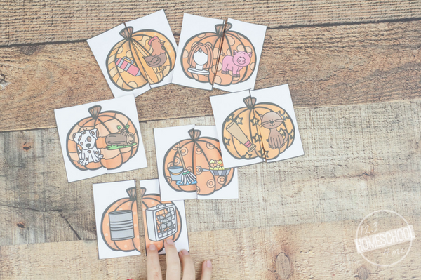 pumpkin rhyme puzzles
