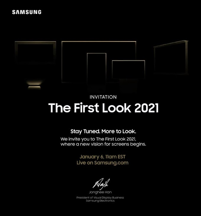 Samsung with new set of screens for 2021