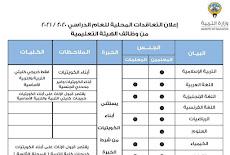 وزارة التربية تفتح باب التوظيف لكافة التخصصات لجميع الخريجين وذوي الخبرة