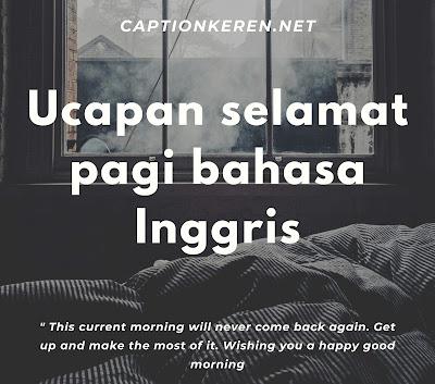 ucapan selamat pagi bahasa inggris
