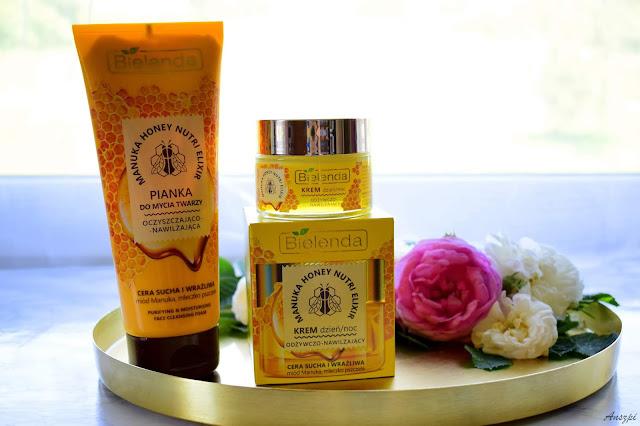 Miodowa uczta dla suchej skóry Manuka Honey Nutri Elixir od Bielendy