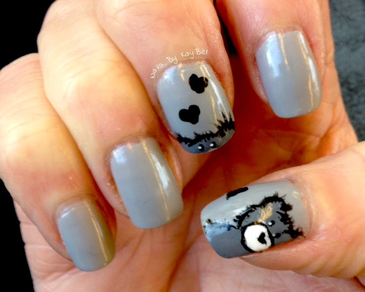Nails By Kaybel Freehand Teddy Bears Nail Art Inspired