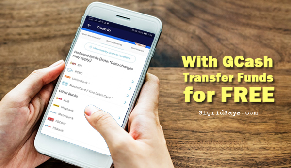 transfer funds for free with gcash - Gcash - cash in from banks - Bacolod blogger- smartphone - money - finance