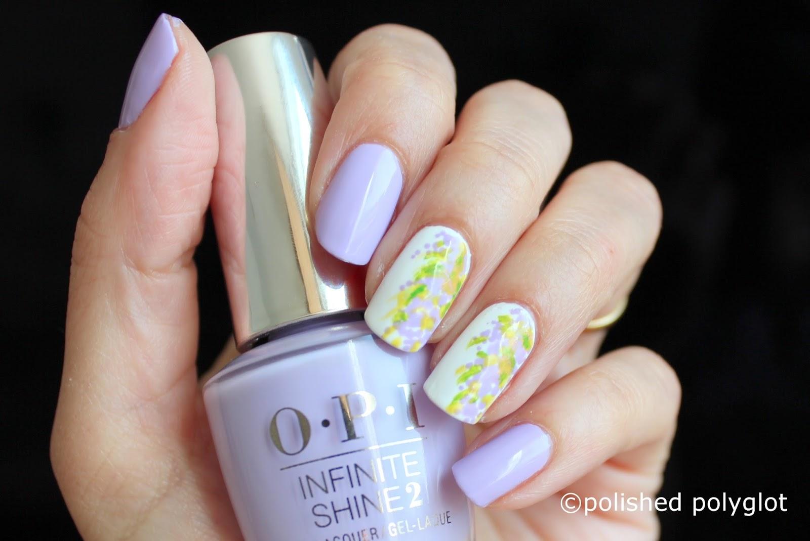 Nail Art Pastel Florals Wisterias On My Nails Nail Crazies Unite