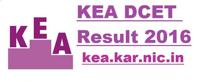 Karnataka KEA DCET 2016
