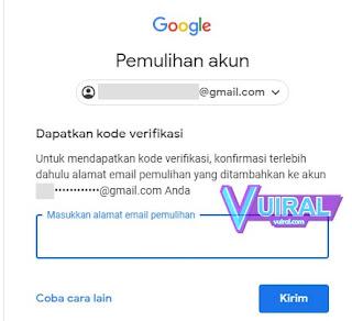 Cara Mengatasi Lupa Password Gmail Dengan Email Pemulihan