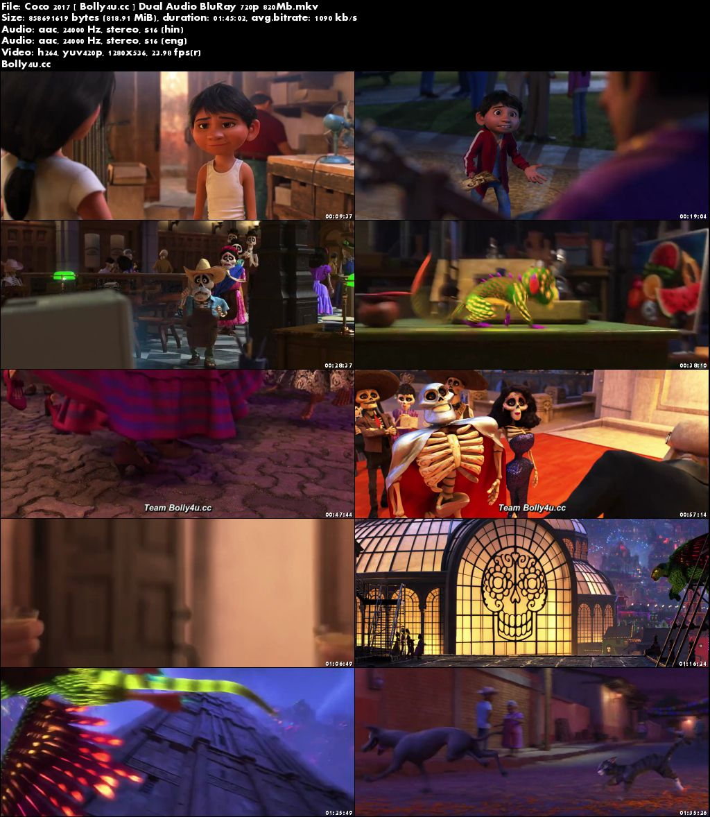 Coco 2017 BluRay 350MB Hindi Dual Audio ORG 480p Download