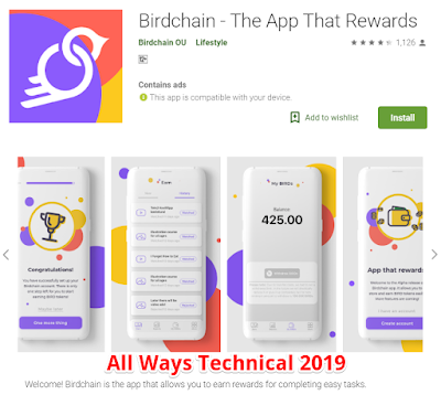 Earning Money Apps For Android - Birdchain - The App That Rewards