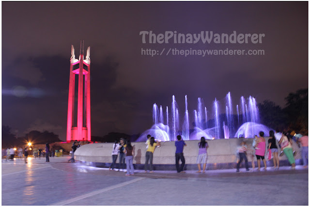 Night shot of Quezon Memorial Circle