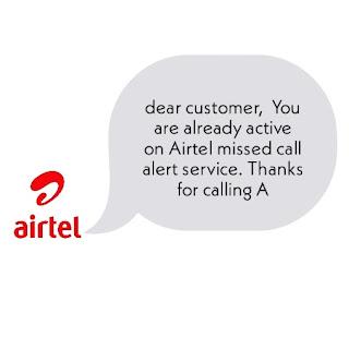 Airtel missed call alert 2020 || Airtel missed call alert activation prepaid service