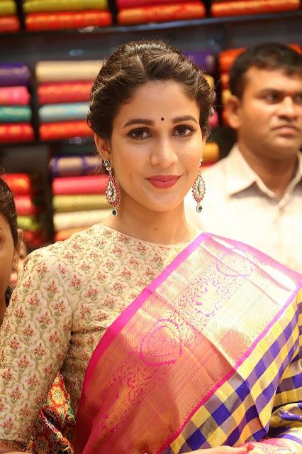 Lavanya Tripathi launches Kanchipuram Kamakshi Silks Actress Trend
