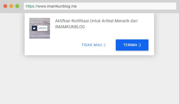 Cara Memasang Web Push Notifications di Blogger