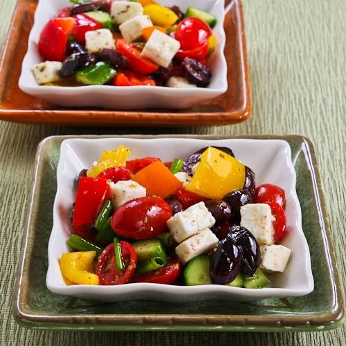 Kalyn's Kitchen®: Chopped Greek-Style Salad With Red