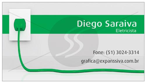 cartoes de visita eletricistas%253Dverde - Cartões de Visita para Eletricistas, Criativos e plugados
