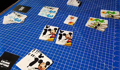 Disney Colour Brain gameplay in action with 3 teams cards on table