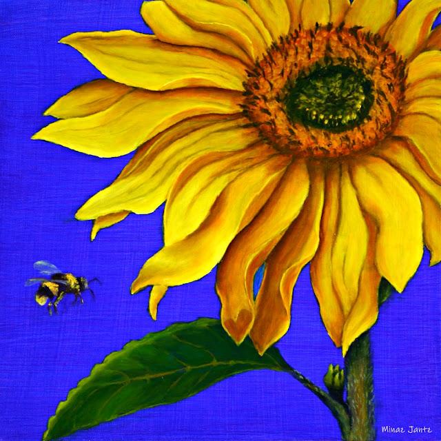 Diptych Sunflowers TOP by Minaz Jantz (Oil)