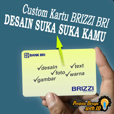 Custom Cetak Kartu BRIZZI BRI desain suka suka kamu