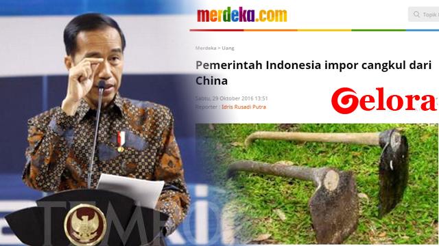 Jokowi Marah Cangkul Masih Impor: Kebangetan Banget
