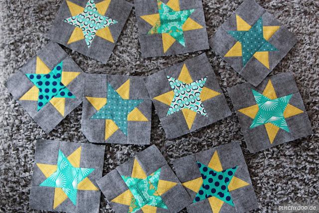 stitchydoo: stitchydoo: 6 Köpfe 12 Blöcke 2018 | Mit Sternen und Windrädern wieder up to date