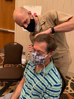 USU associate professor of Neurology, Navy Capt. (Dr.) J. Kent Werner recruits for USU's Invicta study which looks at possible sub-concussive brain injury that may result from repetitive blast overpressure resulting from the firing heavy weapons.  (Courtesy photo)