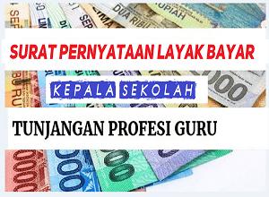 Download Surat Pernyataan Layak Bayar Tunjangan Profesi